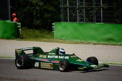Lotus 80 1979 före detta Mario Andretti för formel 1 Royaltyfri Fotografi