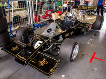 Lotus 77 F1 car. Historic racing car photographed during Brno Grand Prix Revival event on 5 July 2014 in Automotodrom Brno, Czech Republic Royalty Free Stock Images