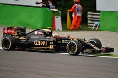 Lotus F1 Team E23 driven by Pastor Maldonado at Monza Stock Photos