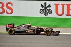 Lotus F1 Team E23 driven by Pastor Maldonado at Monza Stock Photo