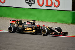 Lotus F1 Team E23 driven by Romain Grosjean at Monza Stock Images