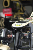Lotus F1. A Lotus nose cone sitting in the garage Stock Photos