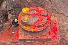 Lotus feet of the Goddess Chamunda Stock Images