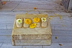Lotus feet of Radha-Krishna Stock Photography