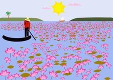 Lotus Field Image libre de droits