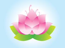 Lotus flower. Design  illustration Stock Image