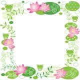 Lotus flower background Stock Photo
