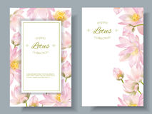 Lotus flower banners Royalty Free Stock Images