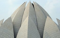 Lotus flower building. In the city of Delhi in India Royalty Free Stock Photos