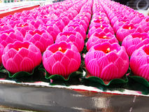 Lotus Flower Candles For Praying Images libres de droits