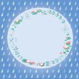 Lotus flower card Royalty Free Stock Image