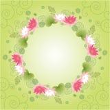 Lotus flower card Royalty Free Stock Photos
