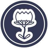 Lotus flower circular icon. A creative illustrated lotus flower circular icon image vector illustration