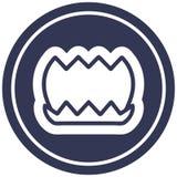 Lotus flower circular icon symbol. A creative lotus flower circular icon stock illustration