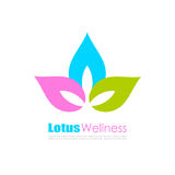 Lotus flower colorful vector logo Royalty Free Stock Image