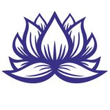 Lotus flower  contour. Yoga symbol Royalty Free Stock Photo
