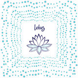 Lotus flower. Cute zen vector illustration. Stock Images