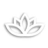 Lotus flower 3d Icon on white background. Wellness, spa, yoga, beauty and healthy lifestyle theme. Vector illustration.  Stock Images