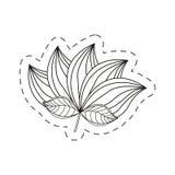 Lotus flower decoration cut line Stock Photo