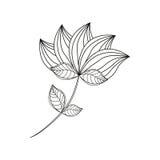 Lotus flower decoration line Stock Images