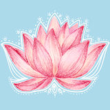 Lotus flower design Royalty Free Stock Images
