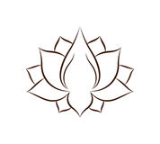 Lotus flower drawing isolated icon design Stock Photo