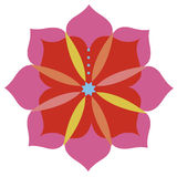 Lotus flower emblem design Royalty Free Stock Photos