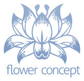 Lotus Flower Floral Design Concept-Pictogram Royalty-vrije Stock Afbeelding