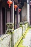 Lotus flower guardrail Stock Image