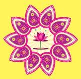 Lotus flower icon. Colorful lotus flower icon design Stock Photo