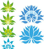 Lotus Flower Icon/Logo Set Fotografie Stock