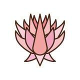 Lotus Flower Icon rosada hermosa Fotografía de archivo libre de regalías