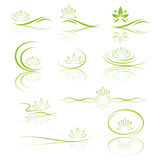 Lotus flower icon set Stock Photos