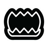 Lotus flower icon symbol. A creative lotus flower icon royalty free illustration