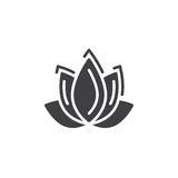 Lotus flower icon vector, filled flat sign, solid pictogram isolated on white. Spa service symbol, logo illustration Royalty Free Stock Photography