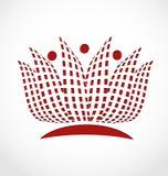 Lotus flower logo. Lotus flower identity card  logo vector concept Stock Images