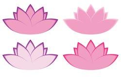 Lotus Flower Illustrations Royalty-vrije Stock Afbeelding