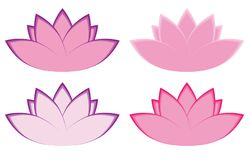 Lotus Flower Illustrations Royalty Free Stock Image