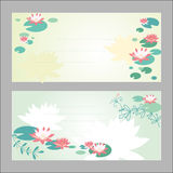 Lotus flower invitation Royalty Free Stock Images