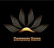 Lotus Flower logo. Gold Lotus company business logo vector eps10 Stock Image