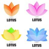Lotus Flower Logo Immagini Stock Libere da Diritti