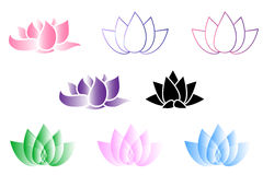 Lotus Flower Logo Immagini Stock