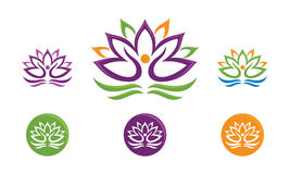 Lotus Flower Logo Imagem de Stock Royalty Free