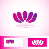 Lotus Flower Logo Stockfotografie