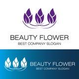 Lotus Flower Logo Royaltyfri Bild