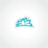 Lotus Flower Logo Fotografie Stock Libere da Diritti