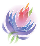 Lotus Flower Logo. A flower lotus logo icon health nature fresh natural Royalty Free Illustration