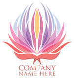 Lotus Flower Logo Royalty Free Stock Photo