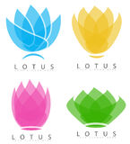 Lotus flower logo Royalty Free Stock Photography