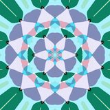 Lotus flower mandala. Abstract mandala like pastel colored symmetric lotus flower shape stock illustration